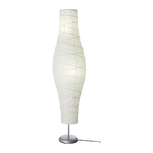 DUDERÖ Floor lamp, silver-color/white - silver-color/white