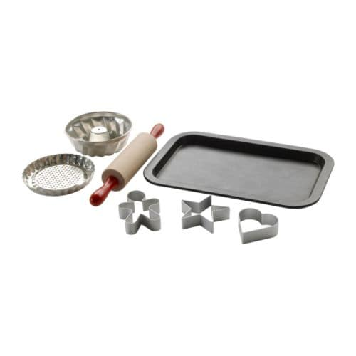 DUKTIG 7-piece baking set IKEA Encourages role play; children develop social skills by imitating grown-ups and inventing their own roles.