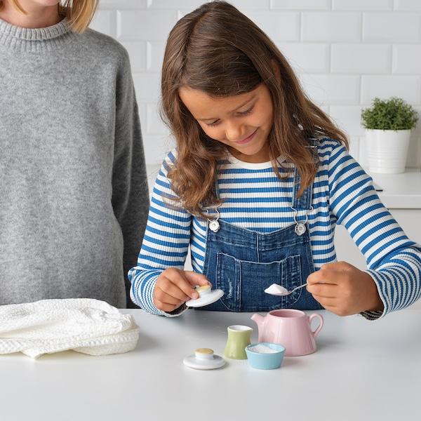 DUKTIG 3-piece tea playset, mixed colors