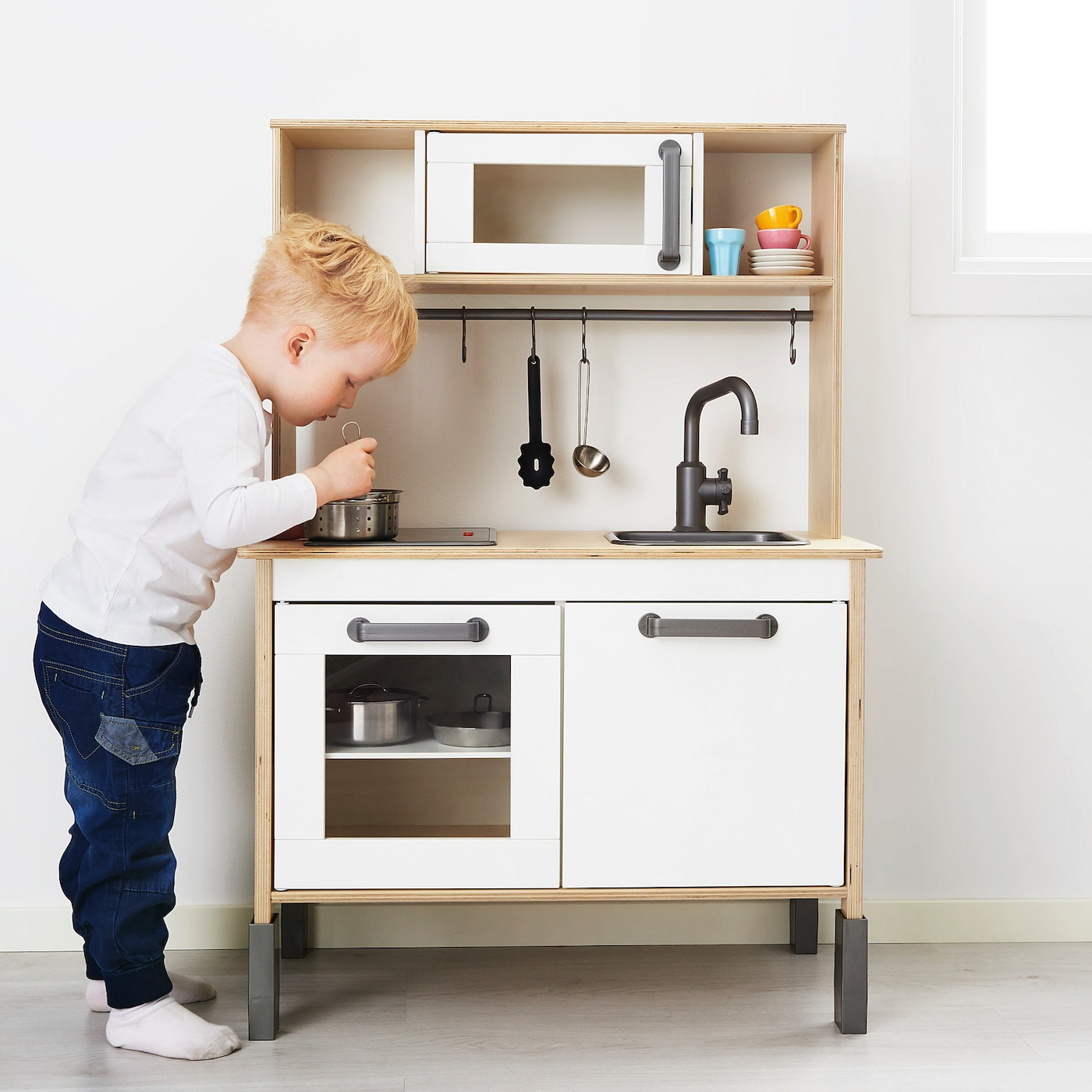 "DUKTIG Play kitchen, birch, 7 7/7x7 7/7x72 7/7"" - IKEA"