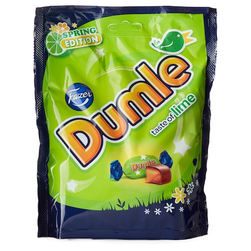 DUMLE chocolate covered toffee lime-flavor 8 oz