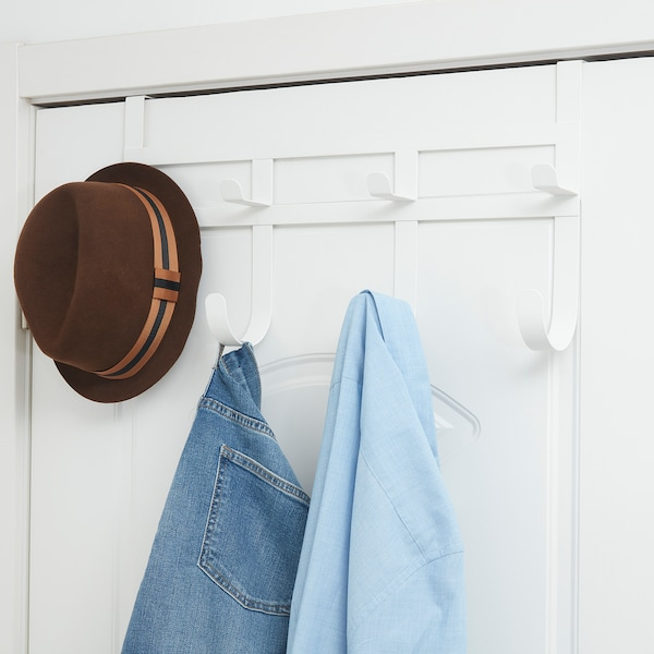 "DUMSNACK hanger for door white 21 ¾ "" 11 ½ """