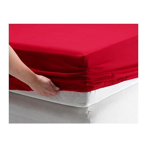 Dvala fitted sheet queen ikea for Drap housse double