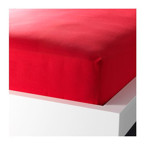 DVALA Fitted sheet IKEA Cotton feels soft and nice against your skin.