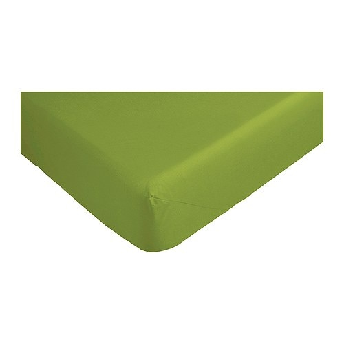 "DVALA Fitted sheet IKEA Fitted sheet with elastic corners.   Fits mattresses up to 10"" thick."