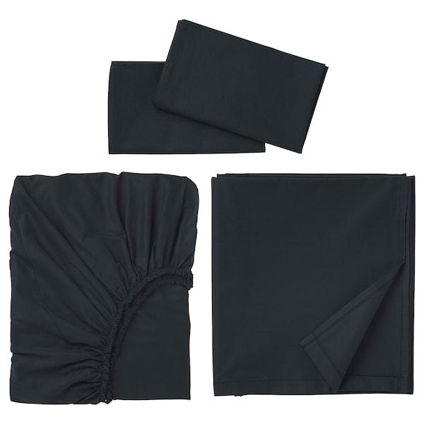 DVALA Sheet set, black, King