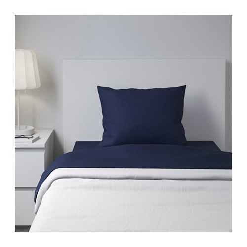 DVALA Sheet set IKEA Cotton feels soft and nice against your skin.