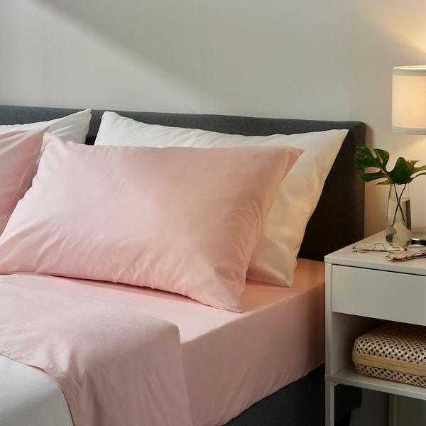 DVALA Sheet set, light pink, Queen