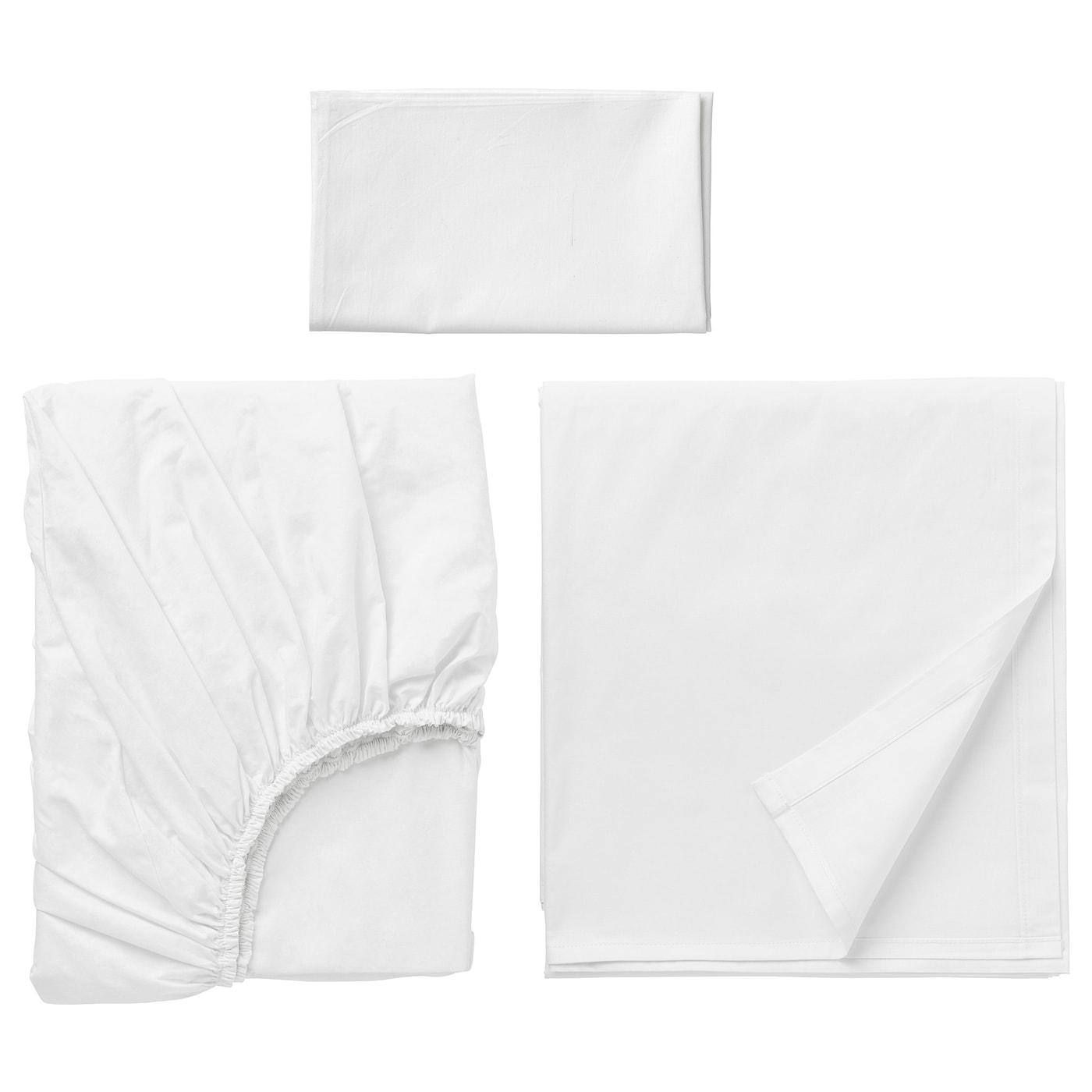 Dvala Sheet Set White Twin Ikea