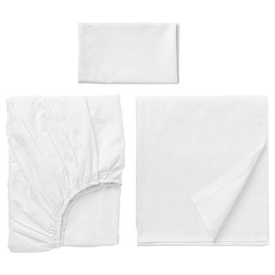 """DVALA sheet set white 152 /inch² 38 """" 74 """" 1 pack 20 """" 30 """" 66 """" 102 """" 10 """""""
