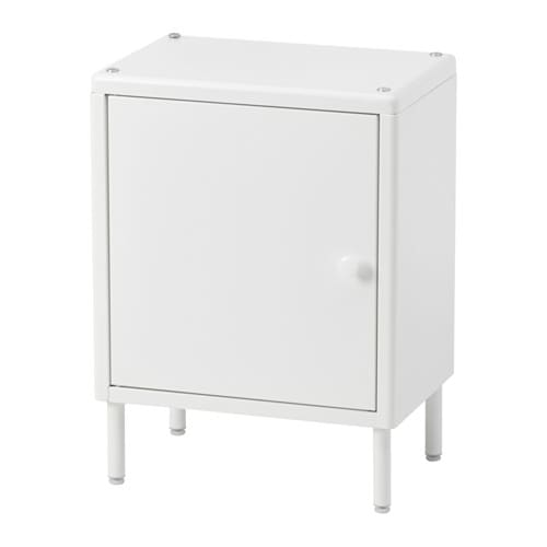 DYNAN Cabinet with door, white white 15 3/4x10 5/8x21 1/4