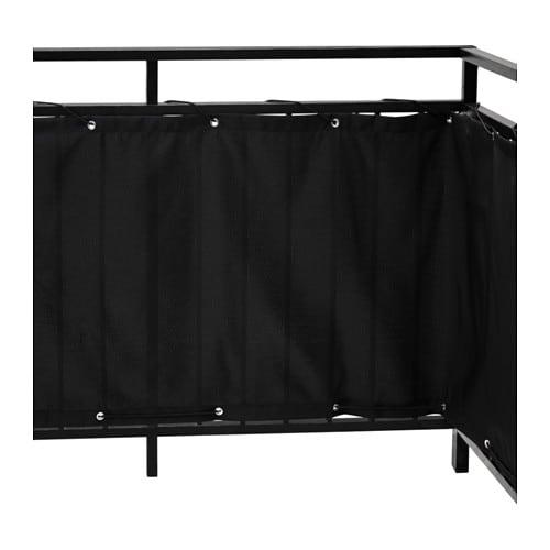 DYNING Balcony privacy screen, black black 98 3/8x31 1/2