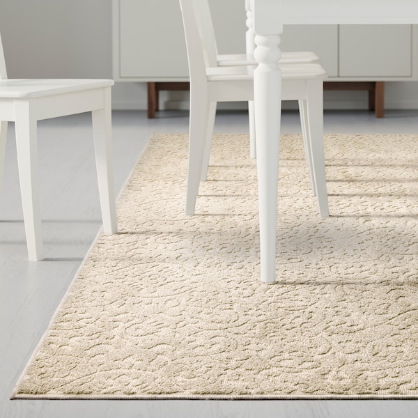 Dynt Rug Low Pile Beige Length 9 10 Ikea