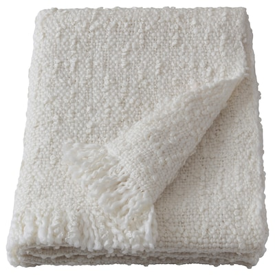 DYSTERMAL Throw, off-white, 51x67 ""