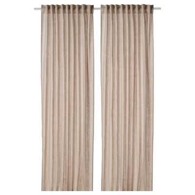 "DYTÅG curtains, 1 pair beige 98 "" 57 "" 2 lb 14 oz 39.07 sq feet 2 pack"