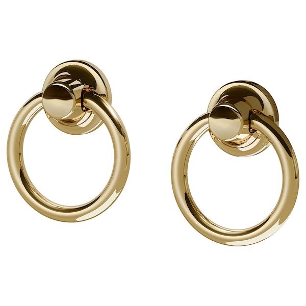 """EDVALLA Drop pull, brass color, 11/16 """""""