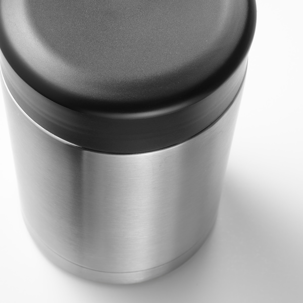 EFTERFRÅGAD Vacuum food container, stainless steel, 17 oz