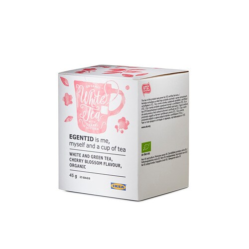 EGENTID White tea IKEA Light and smooth with a fragrant touch of cherry blossom.