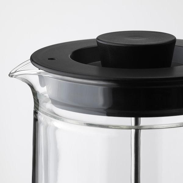 EGENTLIG French press coffee maker, double-walled/clear glass, 30 oz
