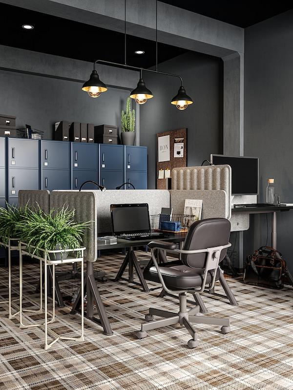 "EILIF Screen for desk, gray, 47 1/4x18 7/8 """