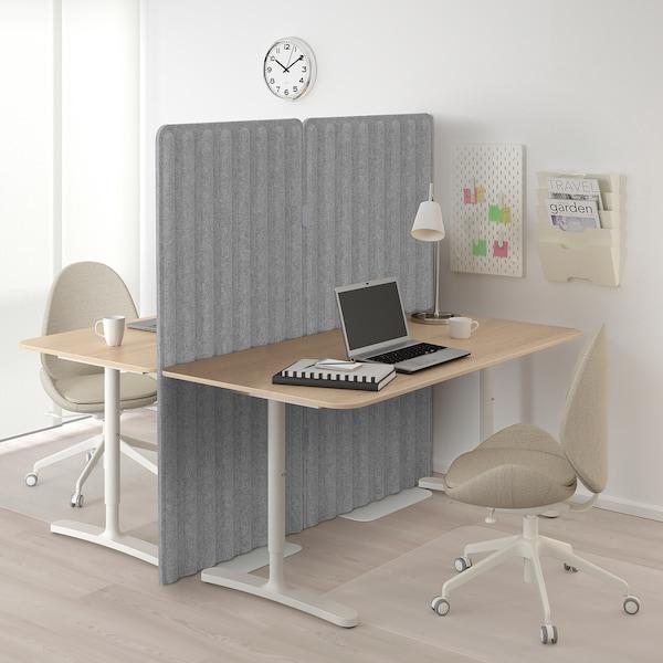 "EILIF Screen, freestanding, gray, 32x59 """