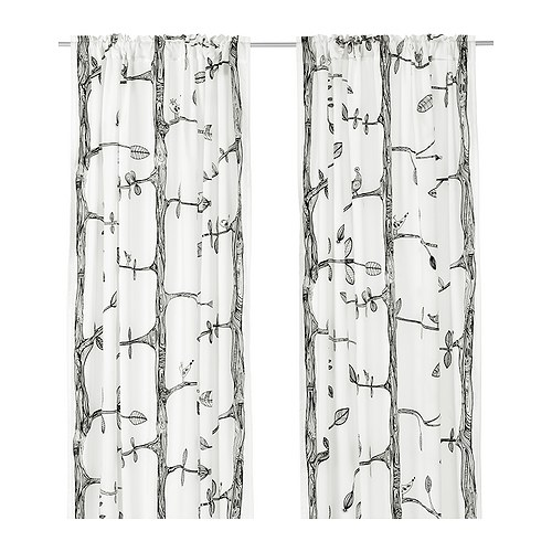 eivor curtains 1 pair ikea. Black Bedroom Furniture Sets. Home Design Ideas