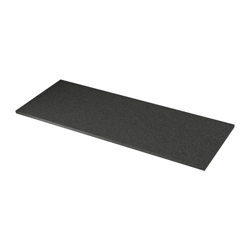 EKBACKEN Countertop, black stone effect black stone effect 98x1 1/8
