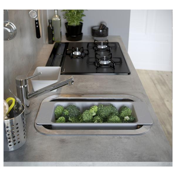 "EKBACKEN Countertop, light gray concrete effect/laminate, 74x1 1/8 """