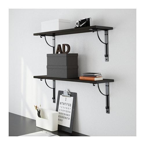 Inredning hyllor hall : EKBY HEMNES / EKBY HÅLL Wall shelf - white/black - IKEA