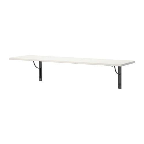 ekby hemnes ekby h ll wall shelf white black ikea. Black Bedroom Furniture Sets. Home Design Ideas