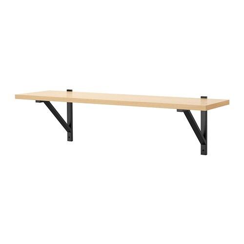 ekby j rpen ekby valter wall shelf birch veneer black ikea. Black Bedroom Furniture Sets. Home Design Ideas