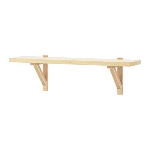 EKBY JÄRPEN  EKBY VALTER Wall shelf  birch veneerbirch  -> Ikea Wandregal Teller