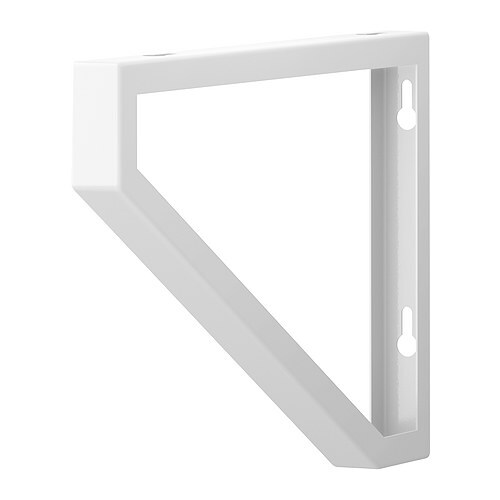 "EKBY LERBERG Bracket IKEA Works with both 7 1/2"" and 11"" deep shelves."