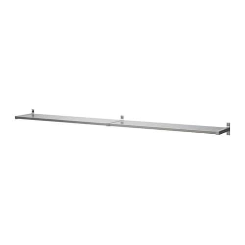 EKBY MOSSBY / EKBY BJÄRNUM Wall shelf, stainless steel stainless steel 94 1/8x11