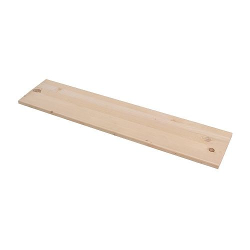 EKBY TRYGGVE Shelf IKEA Solid wood; can be cut to desired width.