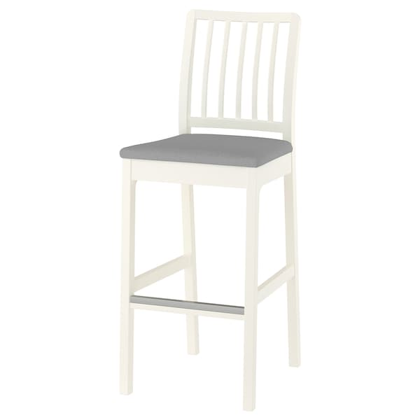 Wondrous Bar Stool With Backrest Ekedalen White Orrsta Light Gray Unemploymentrelief Wooden Chair Designs For Living Room Unemploymentrelieforg