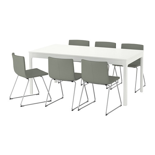 ekedalen bernhard table and 6 chairs ikea
