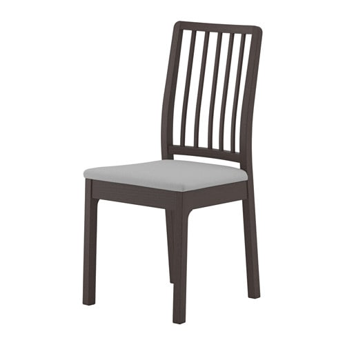 EKEDALEN Chair, dark brown, Orrsta light gray