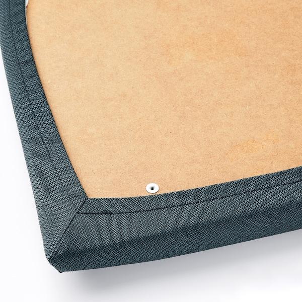 "EKEDALEN chair black/Idekulla blue 243 lb 16 7/8 "" 20 1/8 "" 37 3/8 "" 16 7/8 "" 16 1/8 "" 18 1/8 """