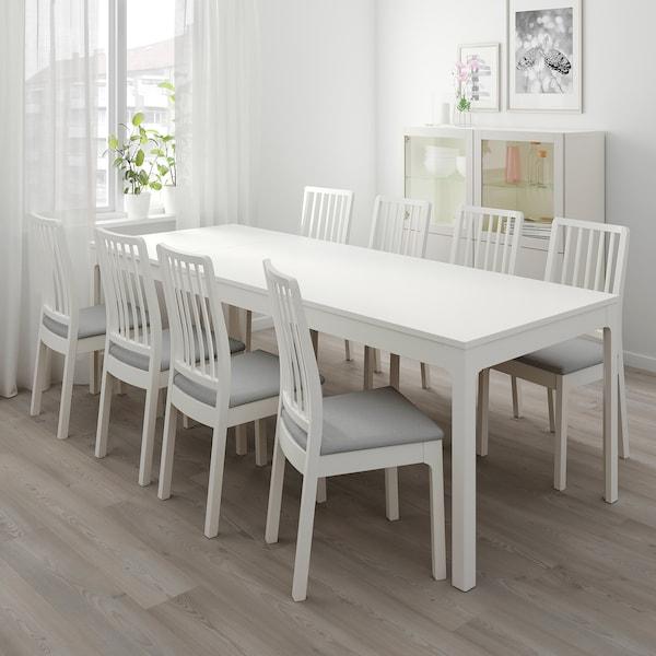 "EKEDALEN / EKEDALEN table and 6 chairs white/Orrsta light gray 70 7/8 "" 94 1/2 """