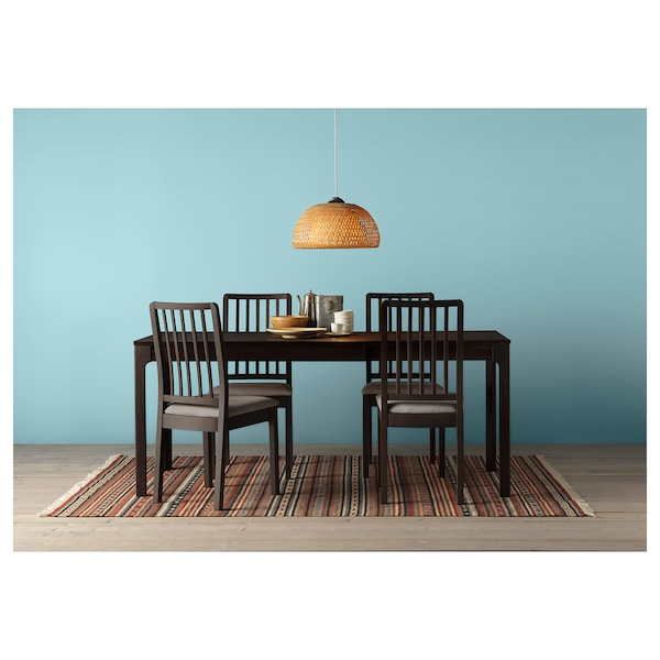 EKEDALEN Extendable table, dark brown, 70 7/8/94 1/2x35 3/8 ""