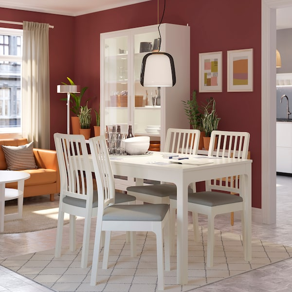 Awe Inspiring Extendable Table Ekedalen White Squirreltailoven Fun Painted Chair Ideas Images Squirreltailovenorg