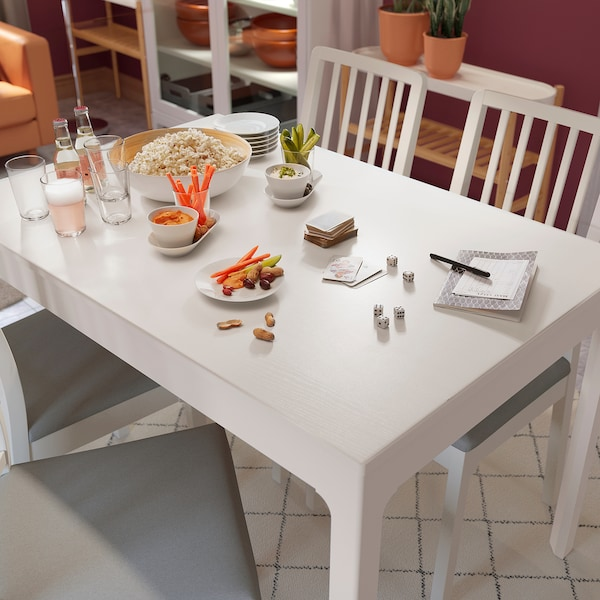"EKEDALEN extendable table white 47 1/4 "" 70 7/8 "" 31 1/2 "" 29 1/2 """