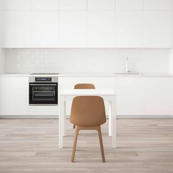 """EKEDALEN / ODGER table and 2 chairs white/brown 31 1/2 """" 47 1/4 """""""