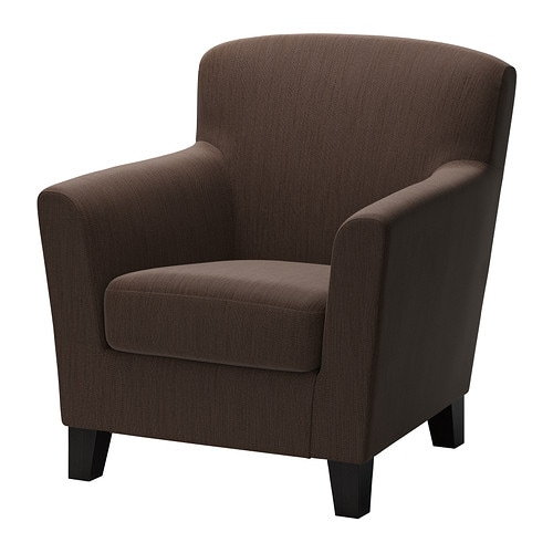 EKENÄS Armchair - Hensta dark brown - IKEA