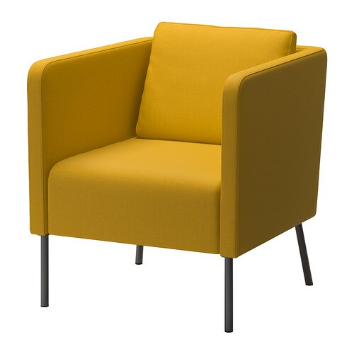 Eker chair skiftebo yellow ikea - Fauteuil orange ikea ...