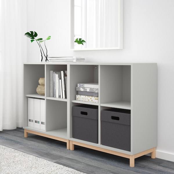 "EKET storage combination with legs light gray 27 ½ "" 55 "" 13 ¾ "" 31 ½ """