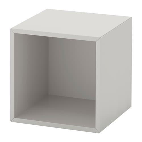 Eket cabinet light gray ikea for Cube rangement mural ikea