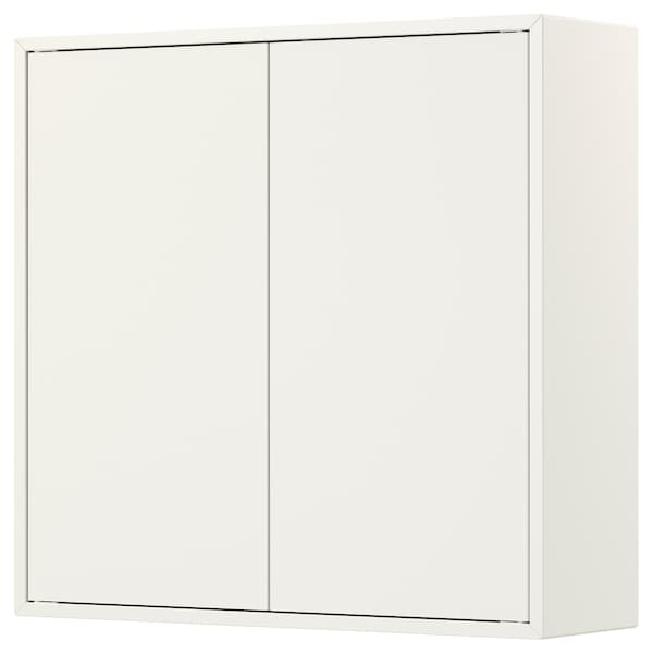 "EKET cabinet with 2 doors and 2 shelves white 27 1/2 "" 9 7/8 "" 27 1/2 "" 22 lb"