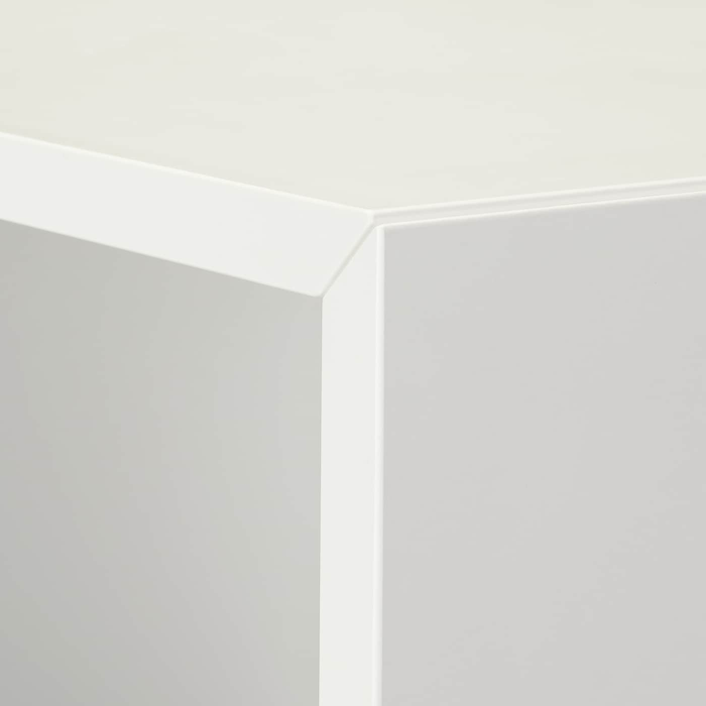EKET Cabinet with 4 compartments, white, 27 1/2x13 3/4x27 1/2 ""